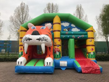Bouncer multiplay tiger with roof