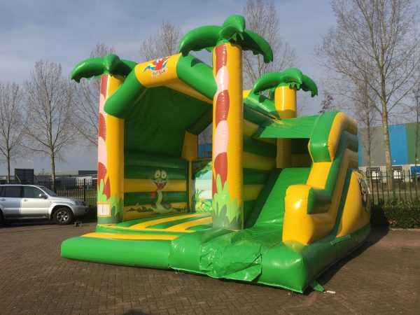 Bouncy castle jungle with slide