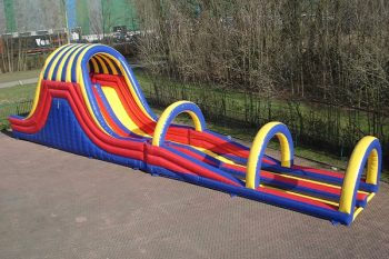 Waterslide with sliding end