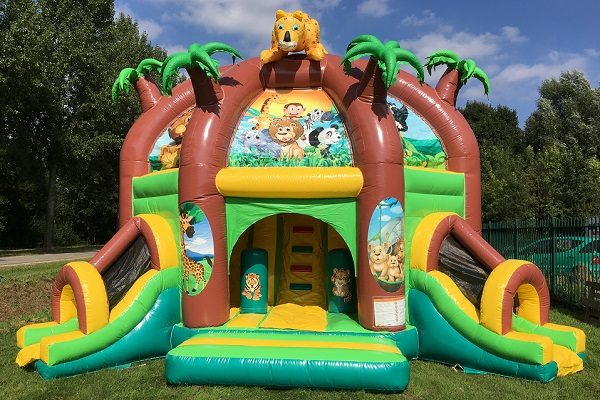 Bouncy castle multiplay combo dome jungle