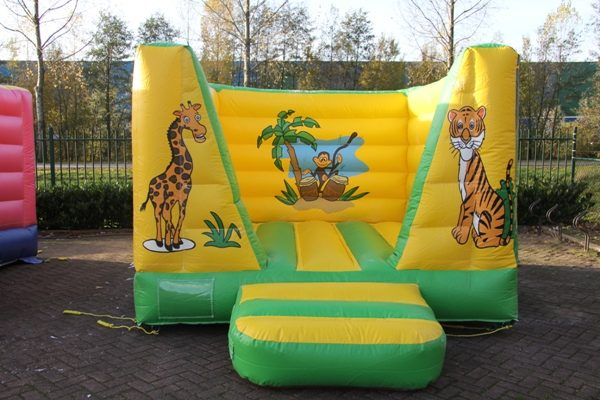 Bouncing castle lion jungle