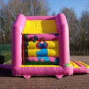Bouncy castle pink princess and prince