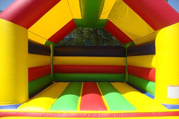 Bouncy castle with roof