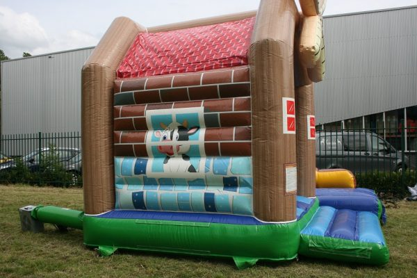 Bouncer cow with slide