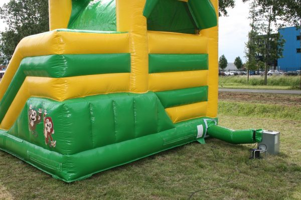 Multifun bouncing castle with slide