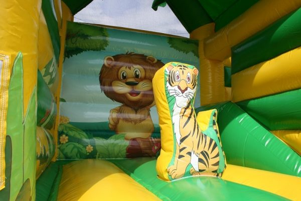Inflatable tiger bouncy castle