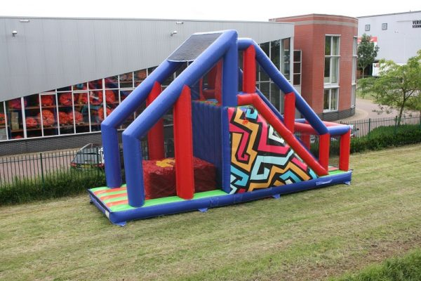 Inflatable survival track base jump