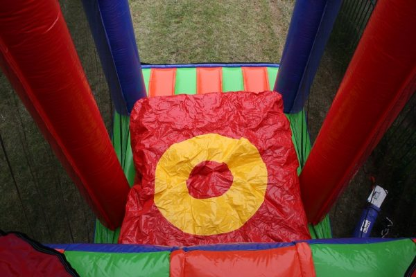 Extreme inflatable base jump