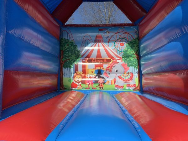 Bouncy castle circus with roof